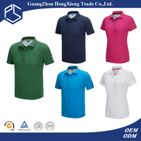 Guangzhou Hongxiong High Quality Promotional Sports Jersey Fabric Polyester Unisex Cool Dri Fit Polo Shirt