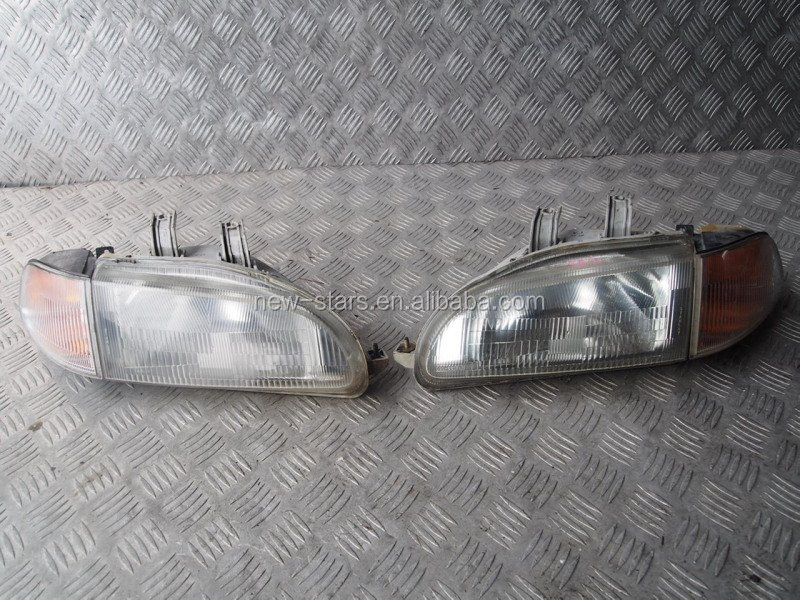USED JDM Front Headlights Lights OEM for 91-95 EG EG4 EG6 2Door