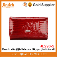 New arrival woman genuine leather wallet cowhide purse security ladies party clutches
