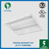 UL DLC Troffer lamp Fixture motion sensor / photocell troffer led ceiling light