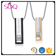 Hot wholesale women men love forever pendant couple necklace yiwu fashion jewellery factory