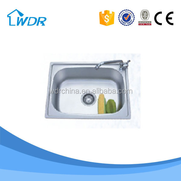 304 stainless steel 0.9 mm thickness kitchen washing dishes Trough Sink