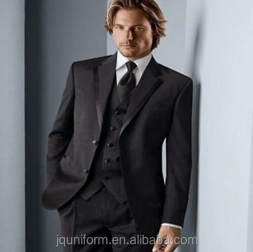 Juqian High Quality Classic Customize dark grey color men's business suit / wool fabric suits/workship uniform