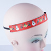 Red Christmas Design Printed Elastic Sport
