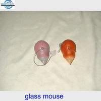 Vintage Christmas glass mouse ornaments from China factory