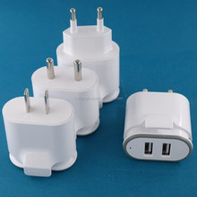 CE ROHS Brand New HLTACC dual usb charger 5v 2a US EU India