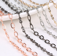 jewelry making gold raw chain for coin pendant