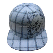 2105 new fashion checked fabric printed china factory snapback cap and hat