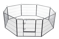 "New Best Pet Black 40"" 8 Panel Heavy Duty Pet Playpen Dog Exercise Pen Cat Fence"