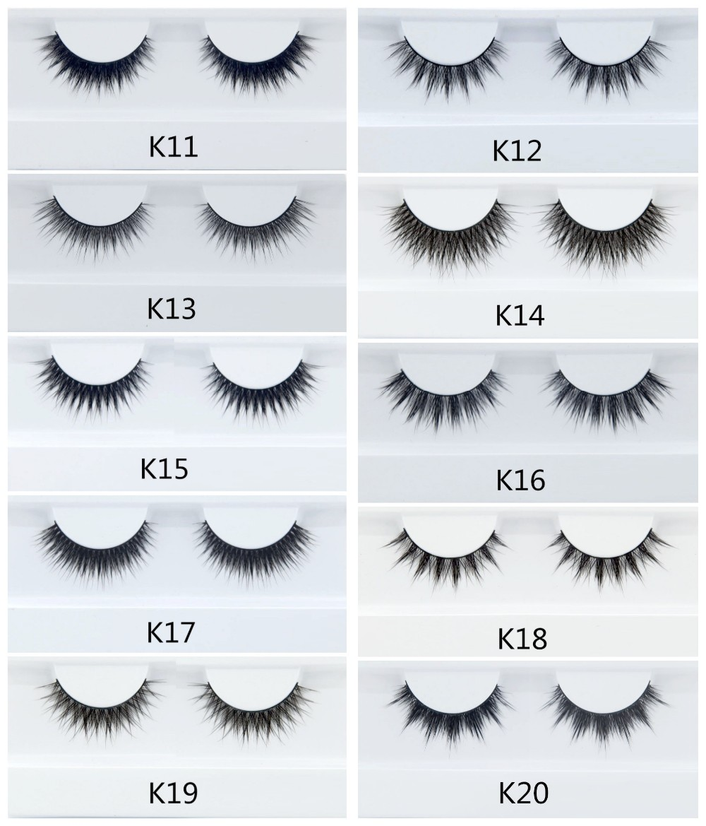 real mink fur 3d lashes false eyelashes with custom eyelash package