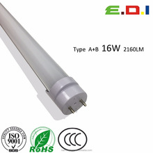 Direct factory led lighting 120cm t8 led tube UL DLC approved 16w 135lm/w 2160lm al+ pc type A+B magic Ballast Compatible