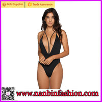 Wholesale high fashion black photos sexy open bikini model for lardies