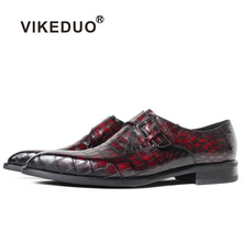 red alligator crocodile footwear men dress leather skin leather shoes