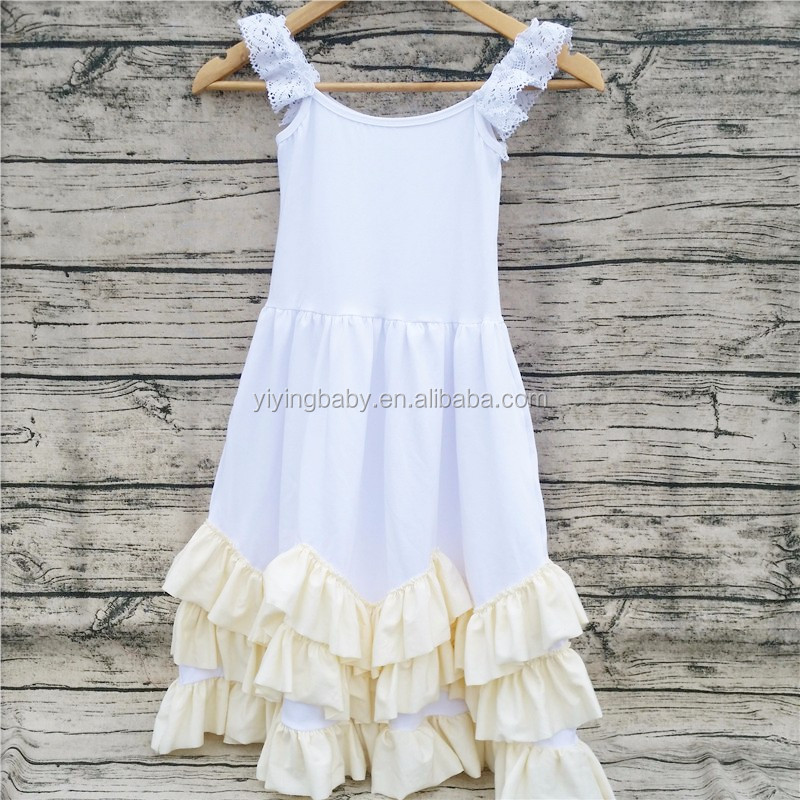 Yiying wholesale kids cotton frocks design children clothing girl party dress