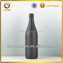 500ml black custom glass water bottle