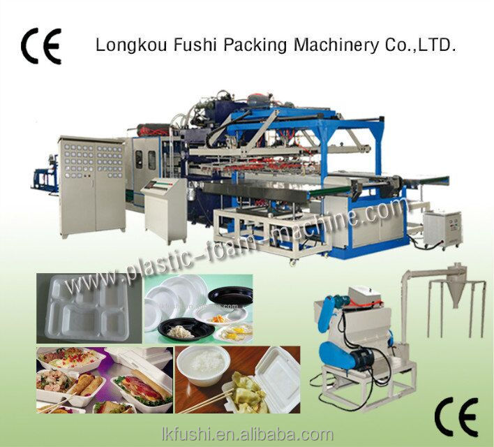plastic ps foam sheet extruder machine sale ps foam disposable lunch box making machine price