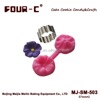 Blossom cutter & mould set,cupcake top decoration,flower making tools
