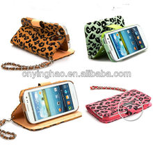 fashion leopard leather pouch cover case for Samsung Galaxy S3 i9300