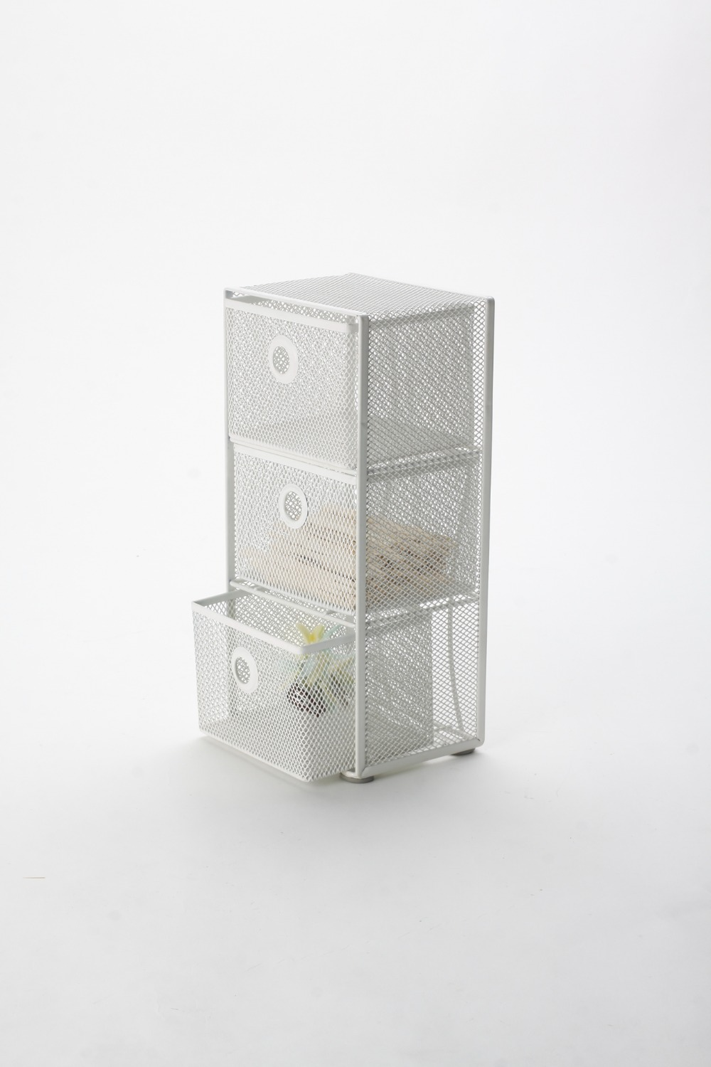 metal mesh 3tier school drawer box