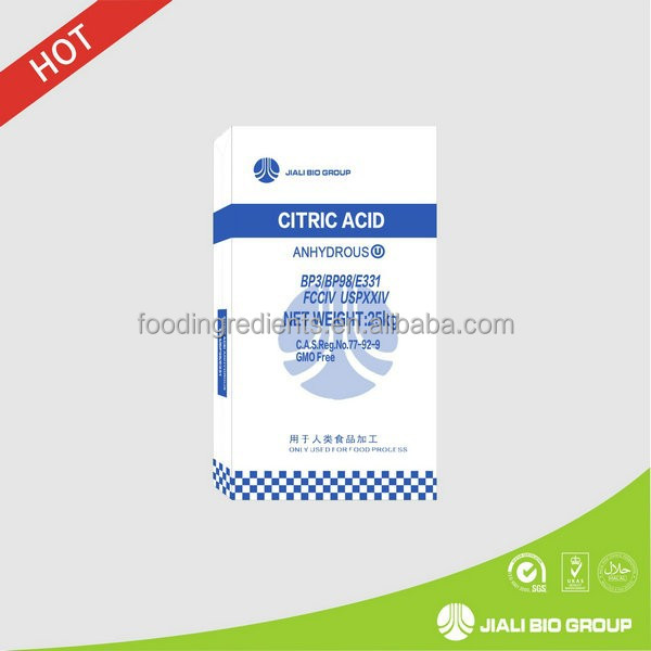 Refined Citric Acid Anhydrous 30 - 100mesh zinc citrate choline citrate liquid gum