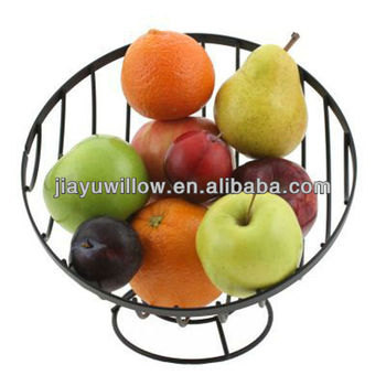 Round metal fruit basket hanging for wall decoration