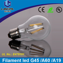 G45 45*77 mm 2W 4W E27 lamparas filament led Glass Bulb 110V Retro Chandelier Lights Lighting 240V 230V
