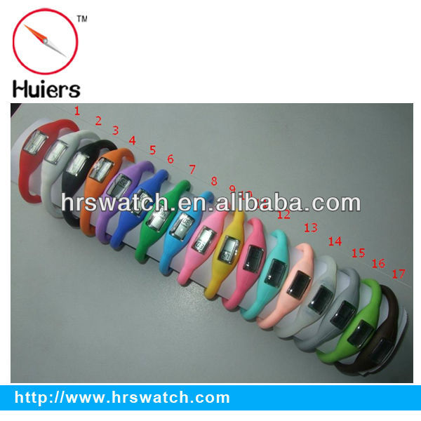 many colors sport silicone silicone anion wristwatch/watch hk