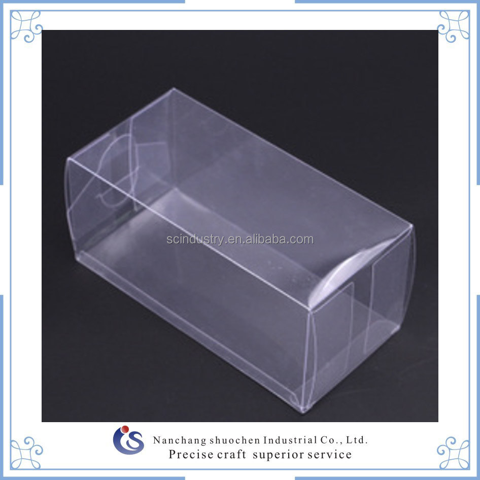 Clear PVC/PET plastic packing box