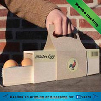 2015 high quality cardboard paper egg packing box with handle