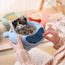 Unique gift ideas creative Multi-function phone holder for iphone 6s , Snack Sundries salver