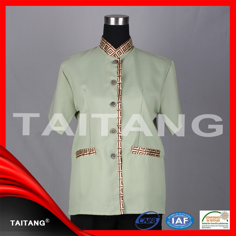 hotel housekeeping uniform hotel cotton polyester staff uniform