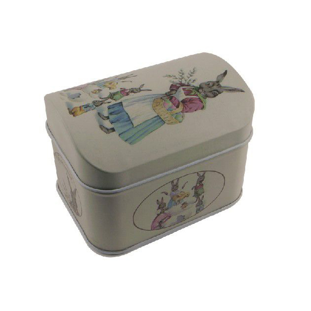 2017 New Deisgn Square Tin Tea Caddy Containers With Lid Headphone Box