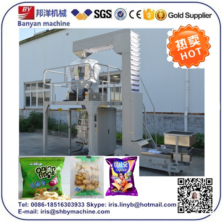 Candy Potato Chips Snack Weighing Packaging Machine