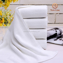 Luxy wholesale customized white color 100% cotton towels baths