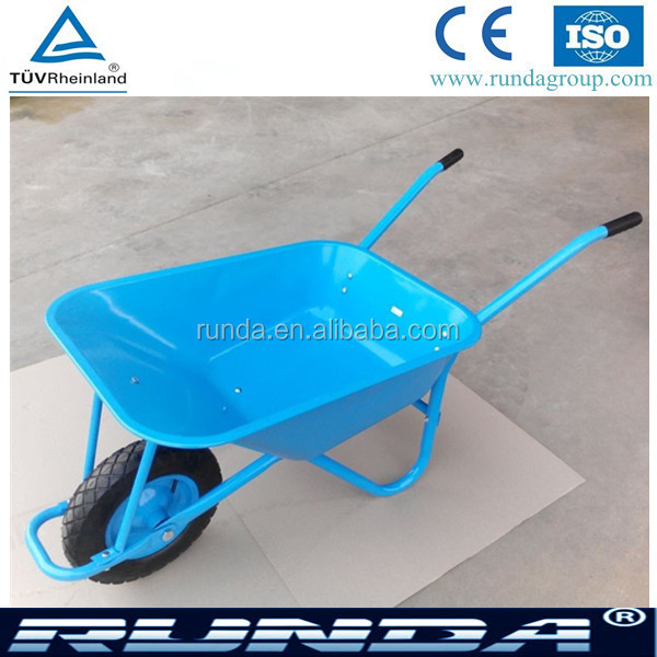 heavy load Building wheel barrow WB5009 in blue, red, pink, green, yellow color