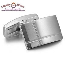 good sale OEM wholesale square cufflink stainless steel cufflink blanks for shirt