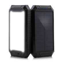 PowerGreen Outdoor Power Bank 10000mah Key Chain Solar Portable Charger for Mobile Phone