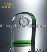 Tekno Green Crystal Table Clock As Wedding Favor Or Business Gift
