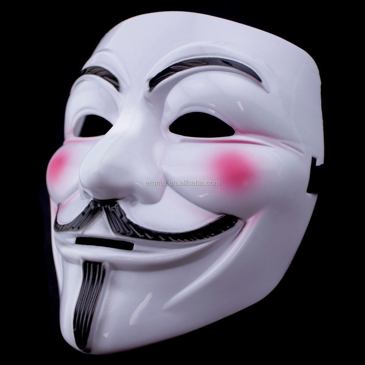 V For Vendetta Movie Costume Mask Guy Fawkes Anonymous Halloween ...