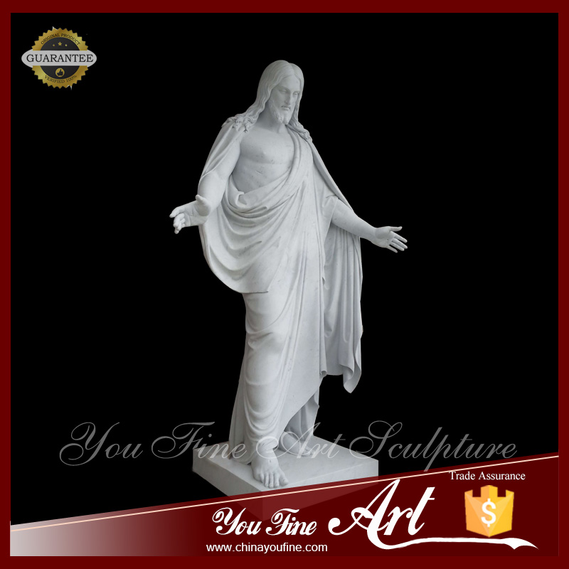 Natural marble Custom Made White Jesus Christ Statue