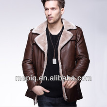 2018 new design fashionable PU leather man coat