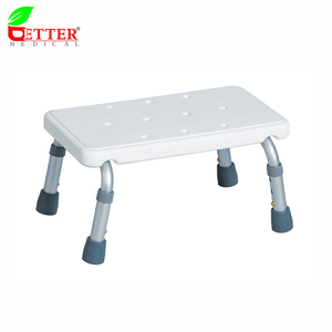 Aluminum bathroom shower step stool bathtub step for patient