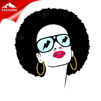 Hot Sale Afro Girl Vinyl Heat Transfers For Tshirt