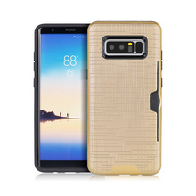 mobile phone case 2 in 1 card holder case for Samsung Note 8 high quality TPU+PC material, Also 100% fit for iPhone 8 Plus