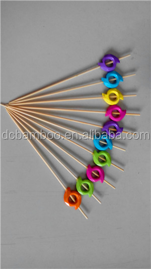 windmill pattern rainbow color bead bamboo stick