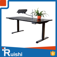 Ruishi Brand adjustable metal desk leg height office desk with remote control
