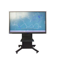 65 Inch education equipment for school optical smart touch network interactive whiteboard AIO PC same for office meeting