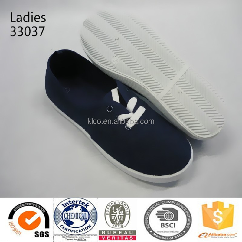 2015 new design lady casual style black espadrille canvas shoes