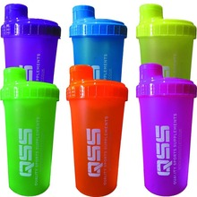 Wholesale custom gym shaker cups 700ml, six color for option- New bottle