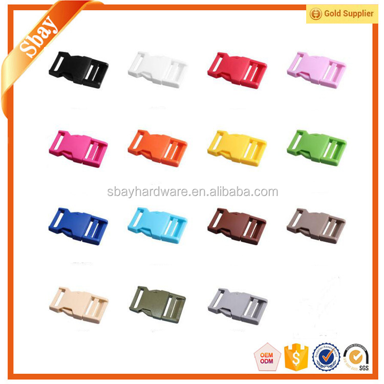 Colored plastic side release buckle